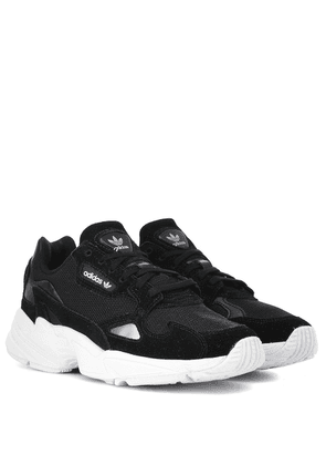 Falcon suede-trimmed sneakers