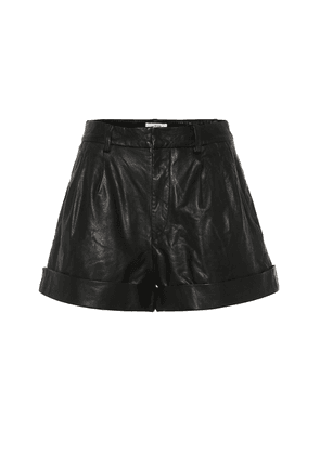 Abot high-rise leather shorts