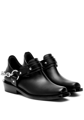 Moto leather ankle boots