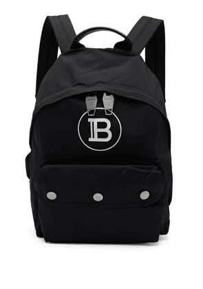 Balmain - Logo-print Technical Backpack - Mens - Black