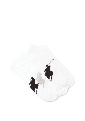 Polo Ralph Lauren - Pack Of Three Logo-jacquard Ankle Socks - Mens - White