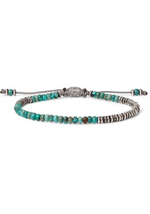 M.Cohen - Oxidised Sterling Silver Turquoise Bracelet - Silver