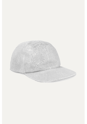 Off-White - Crystal-embellished Lamé Cap - Silver