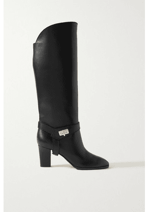 Givenchy - Eden Leather Knee Boots - Black