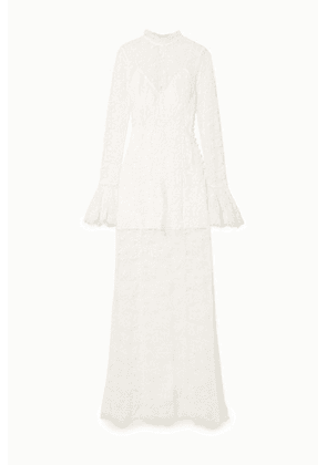 Les Rêveries - Corded Lace Gown - Ivory