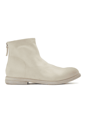 Marsell White Suede Listolo Boots
