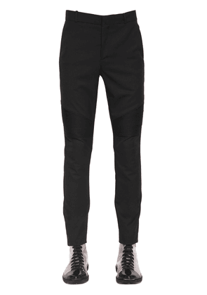 Satin Band Wool Pants