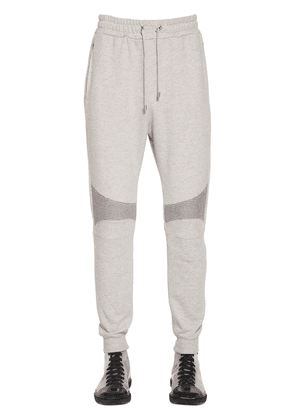 Logo Printed Cotton Jersey Sweatpants