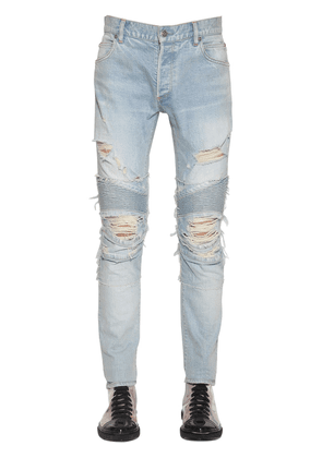 15cm Destroyed Slim Cotton Denim Jeans