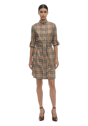 Giovanna Checked Cotton Poplin Dress