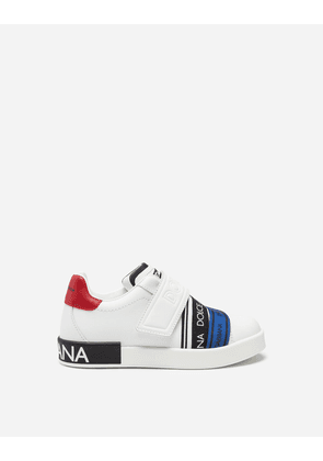 Dolce & Gabbana Shoes - PORTOFINO SNEAKERS WITH BRANDED RIBBON WHITE