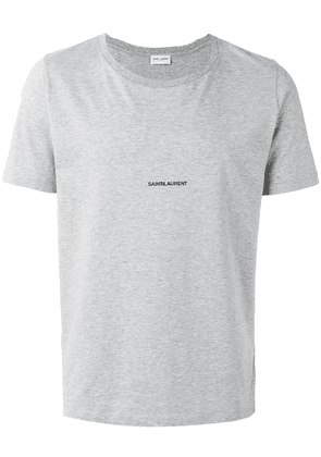 Saint Laurent logo print T-shirt - Grey