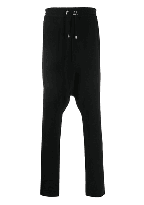 Balmain crepe harem-cut pants - Black