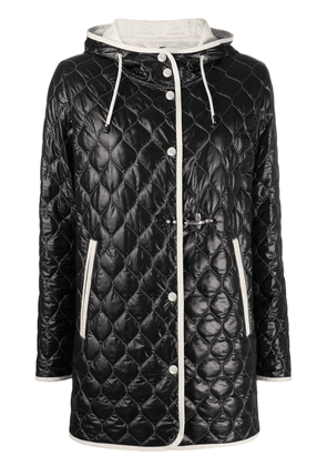 Fay contrast-trim quilted jacket - Black