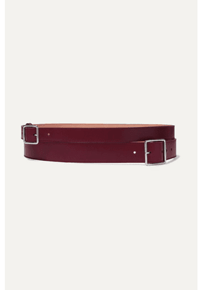 Alexander McQueen - Layered Leather Belt - Burgundy