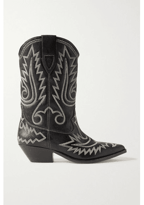 Isabel Marant - Duerto Embroidered Leather Boots - Black