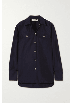 Givenchy - Button-embellished Cotton-poplin Shirt - Navy