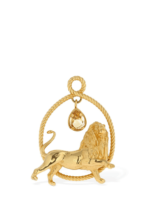 Lion Sign Thick Ring W/citrine Stone