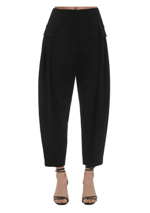 Tailored Stretch Wool Cargo Pants
