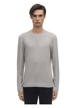 Frosted Effect Wool Knit Sweater