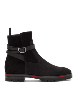 Christian Louboutin Black Suede Kicko Boots