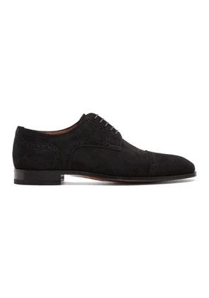 Christian Louboutin Black Suede Cousin Charles Derbys
