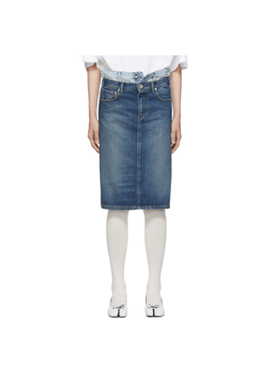 Maison Margiela Blue Two-Tone Denim Skirt