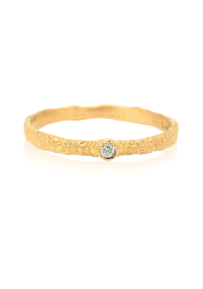 Roxy Love 18kt gold ring with green diamond