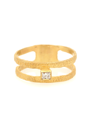 Roxy Fine Graphic 18kt gold ring with diamond