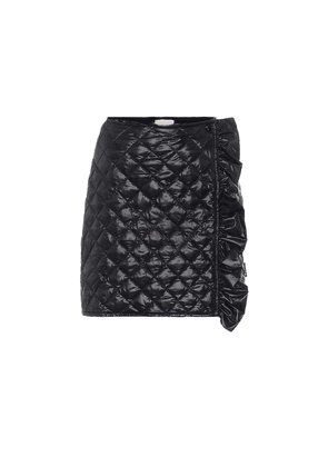 Quilted high-rise skirt