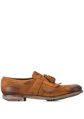 Church's distressed tassel loafers - Brown