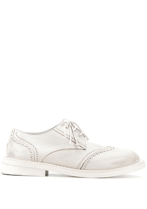 Marsèll lace up brogue detail boots - White