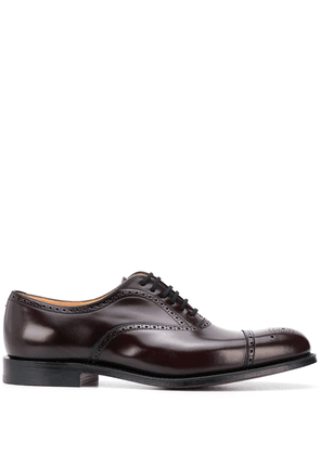 Church's polished punch hole brogues - Red