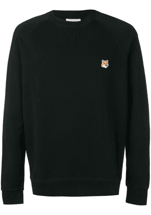 Maison Kitsuné embroidered logo sweater - Black