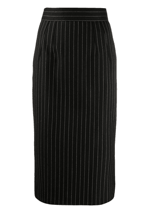 Dolce & Gabbana pinstriped fitted midi skirt - Black