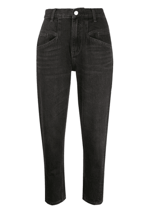 Current/Elliott high-waisted cropped jeans - Black