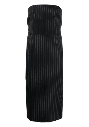 Dolce & Gabbana pinstriped strapless fitted dress - Black