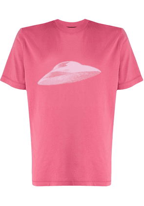 PS Paul Smith UFO print T-shirt - PINK