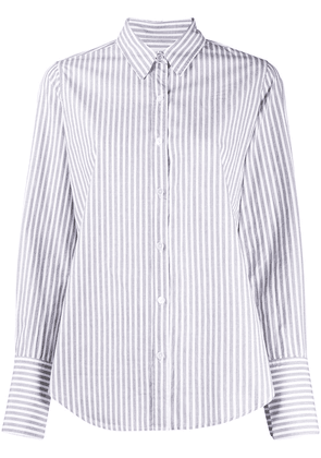 Nili Lotan striped-print long-sleeved shirt - Grey