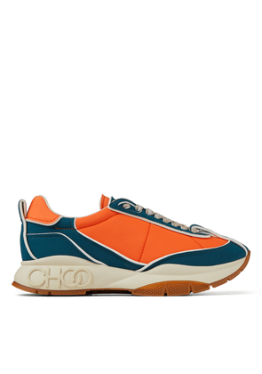 RAINE/M Lava, Teal and Cotton Padded Nylon Trainers