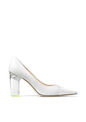 YK-LOVE White Patent Leather Pointed Pumps