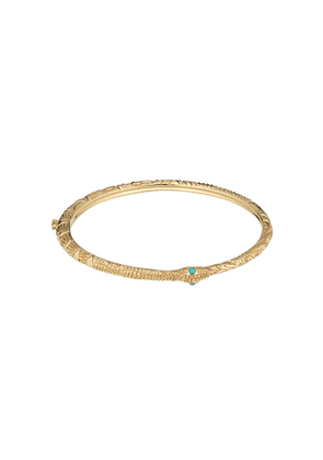 Gucci 18kt yellow gold Ouroboros bangle - 8076 Undefined