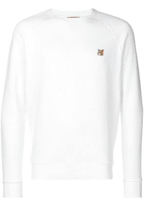 Maison Kitsuné foxes long sleeved T-shirt - White