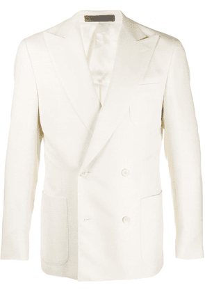 Corneliani straight double-breasted blazer - White
