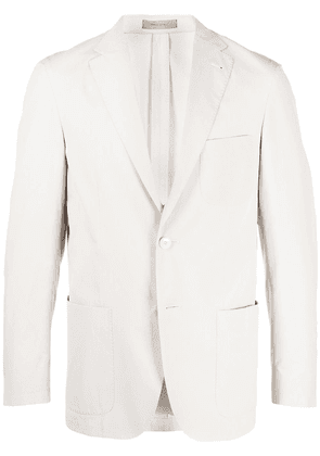 Corneliani straight single-breasted blazer - Grey