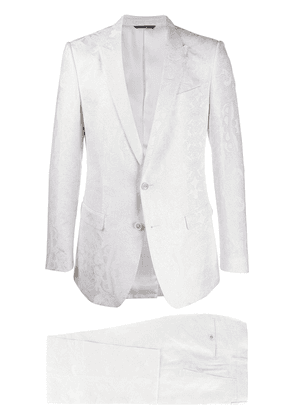 Dolce & Gabbana jacquard effect tailored suit - White