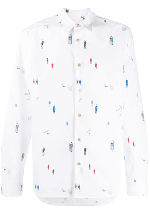 PS Paul Smith. People printed long sleeved shirt - White