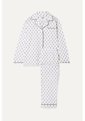Sleepy Jones - Bishop Printed Cotton-poplin Pajama Set - White