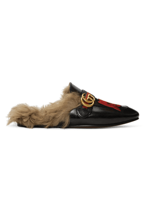Gucci Black Skull New Princetown Loafers
