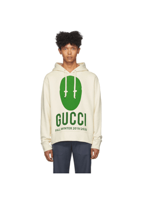 Gucci Off-White and Green Manifesto Hoodie